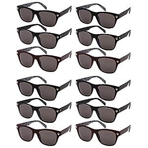 Edge I-Wear 12 Pack Horn Rimed Sunglasses 100% UV Protection SK540886P-SD-12
