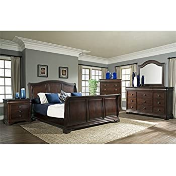 Amazon.com: Elements Conley 6 Piece King Sleigh Bedroom Set ...