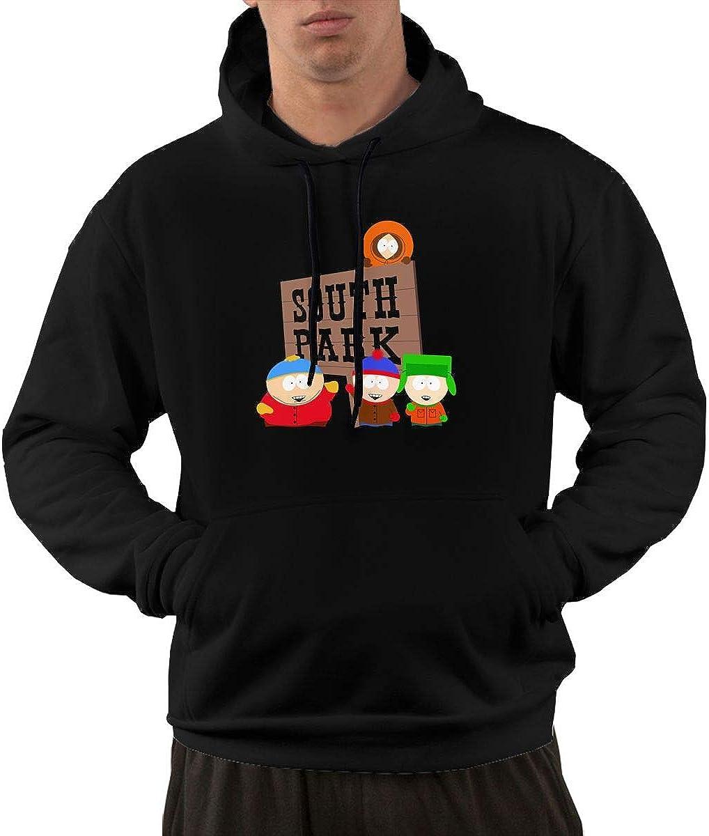 AlbertV Men's South Park Hoodies Sweater with Pocket Black
