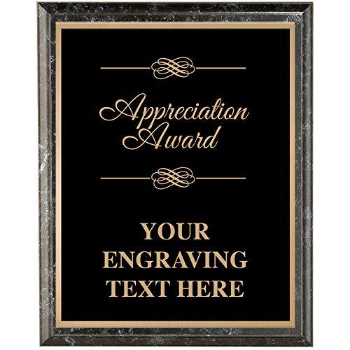 (Crown Awards Corporate Appreciation Plaques - 7 x 9 Appreciation Award Classic Black Etched Recognition Trophy Plaque Award Prime)