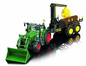 Dickie 201119040 - Excavadora Forester teledirigida con remolque