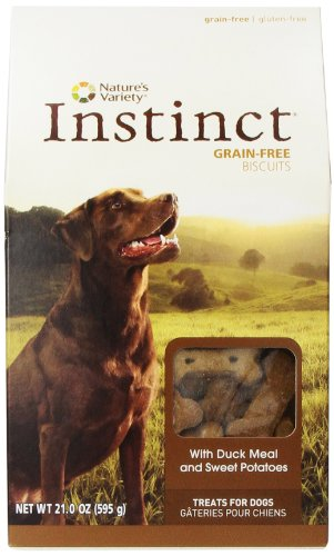 Instinct Grain-Free Dog Biscuits, with Duck Meal and Sweet Potato, by Nature's Variety, 21-Ounce Package