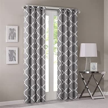 Madison Park Saratoga Single Window Curtain - Grey - 84  Panel - 1 Panel Only