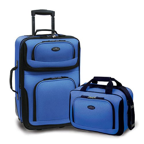 Image result for U.S Traveler Rio Two Piece Expandable Carry-on Luggage Set (15-Inch and 21-Inch)
