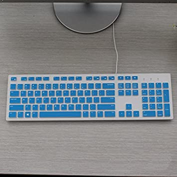 Leze Clear Ultra Thin Keyboard Cover Compatible with Dell KM636 /& KB216 Keyboard /& Dell Optiplex 5250 3050 3240 5460 7450 7050 /& Dell Inspiron AIO 3475//3670//3477 All-in one Desktop