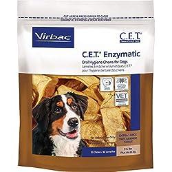 Virbac C.E.T. Enzymatic Oral Hygiene Chews, Extra Large Dog, 30 Count