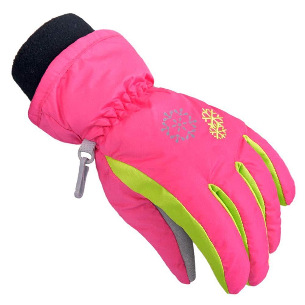 Janedream Kids Ski Gloves Winter Snow Warm Waterproof Children Windproof Thickening Gloves for Girls Boys