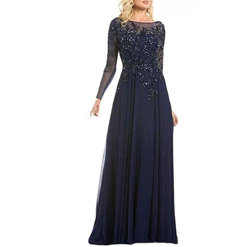 Beaded Blue Evening Gown: Amazon.com