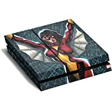 Marvel Spider-Woman PS4 Horizontal (Console Only) Skin - Spider-Woman Web Vinyl Decal Skin For Your PS4 Horizontal (Console Only)