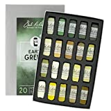 Jack Richeson 20 Piece Color Value Earth Greens Hand Rolled Soft Pastel Set
