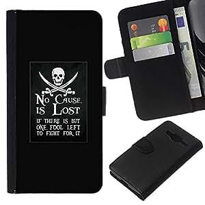 KingStore / Leather Etui en cuir / Samsung Galaxy Core Prime / Lost Pirate Mouvement de navire