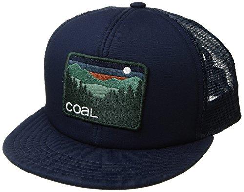 Coal Men's The Hauler Mesh Back Trucker Hat Adjustable Snapback Cap, Navy, One (Foam Classic Mesh Truckers Cap)