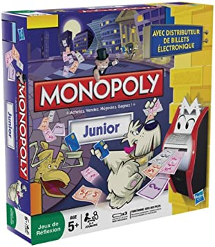 Hasbro 27110 Monopoly Junior - Juego de estrategia electrónico Francés: Amazon.es: Juguetes y juegos