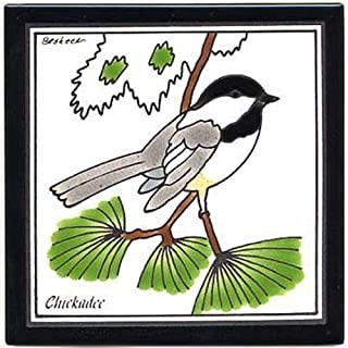 product image for Chickadee Wall Plaque, Ceramic Tile, Trivet