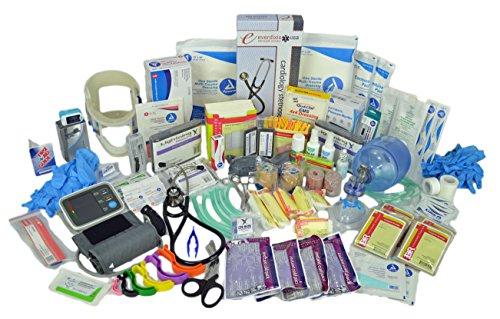 Lightning X Premium Stocked Modular EMS/EMT Trauma First Aid Responder Medical Bag + Kit - Fluorescent Orange by Lightning X Products (Image #3)