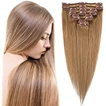 3-5 Days Delivery 100% Real Remy Clip in Hair Extensions 16-22inch Grade AAAAA Natural Hair Full Head Standard Weft 8 Pieces 18 Clips Long Smooth Soft Silky Straight for Women Fashion