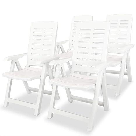 Tuduo sillas reclinables de jardín 4 Unidades 60 x 61 x 108 ...