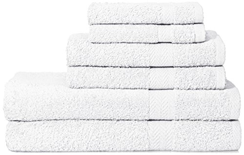 DELUXE 6 PC TOWEL SET WHITE by THE DELUXE/ESPALMA