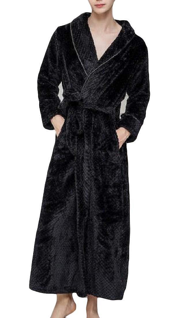 Joe Wenko Men Bathing Thickened Lounge Flannel Sleepwear Winter Robes