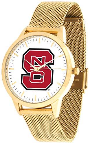 North Carolina State Wolfpack - Mesh Statement Watch - Gold Band