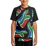 Africa Flag South Boy Printing Casual Baseball Tees Short Sleeve T-Shirts