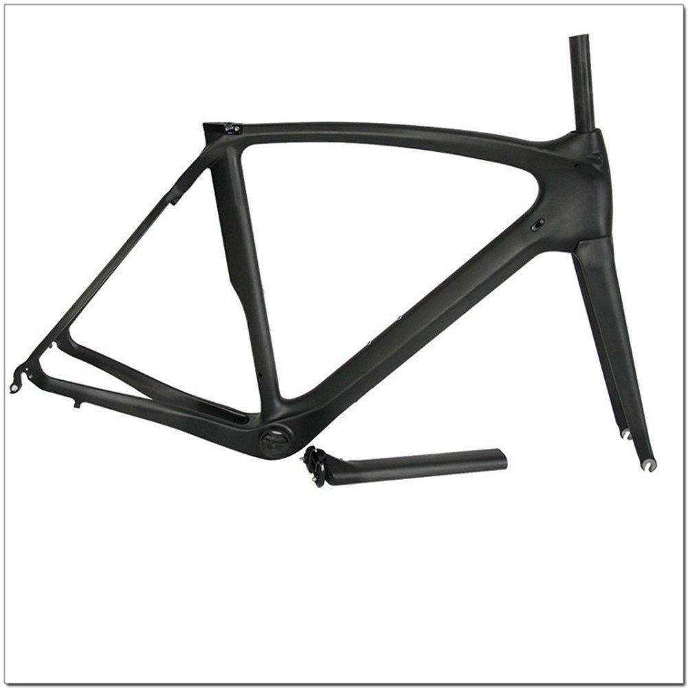 Ecom カーボンロードバイクフレームセットNEWデザイン (艶消し, 57cm)   B072KZVCZR