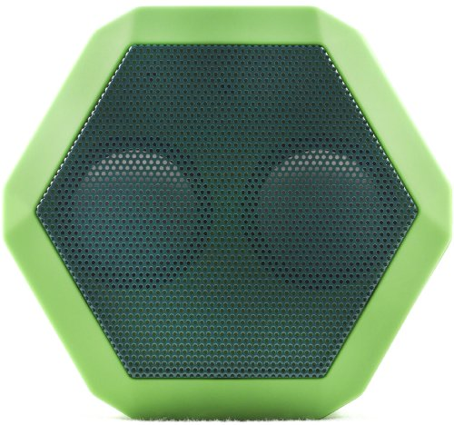 - [OLD MODEL] Boombotix REX Wireless Ultraportable Weatherproof Speaker for iPods Smartphones Tablets and Laptops (Savage Green)