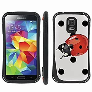 [ArmorXtreme] Prime Hybrid Armor Design Image Protect Case (Poka Dot Lady Bug) for Samsung Galaxy S5
