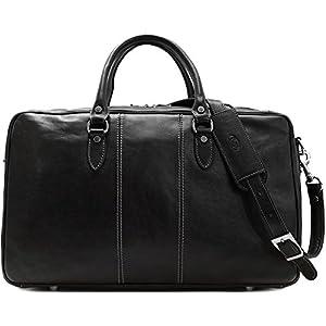 Venezia Suitcase Weekender Duffle Bag in Full Grain Leather 12