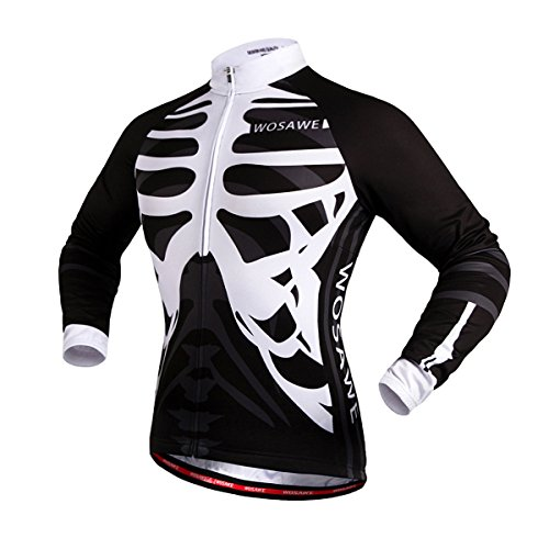 BIYLACLESEN Long Sleeve Mountain Bicycle Shirt Top Shorts Tights t-shirt for Men M (Custom Mountain Bikes)