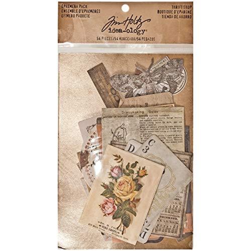 Collage Kit - Tim Holtz Idea-ology Thrift Shop Ephemera Pack, 54 Pieces, TH93114