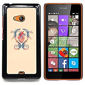 - Heart Anatomy Surgery Blue Yellow - - Snap-On Rugged Hard Cover Case Funny HouseFOR Microsoft Nokia Lumia 540 N540