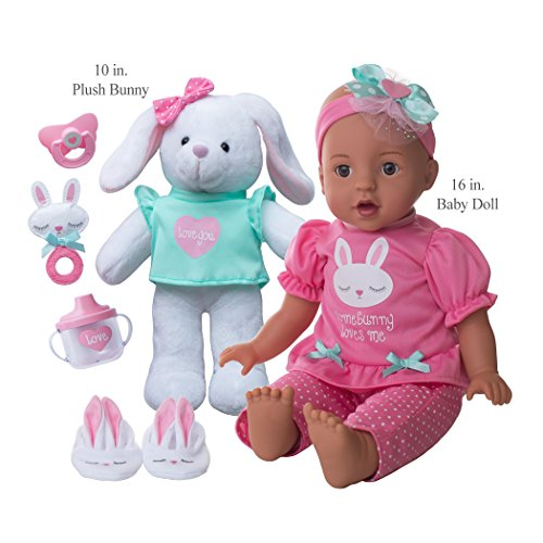 Brass Key Keepsakes Somebunny Loves Me 16-Inch Girl Doll & 10-Inch White Plush Bunny (Brass Key Keepsakes)
