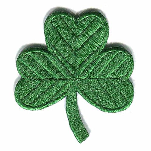 (GODEAGLE Irish Shamrock Clover Iron on Embroidery Thread Patches)