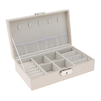 IPOTCH Caja Joyero Organizador de Joyerías Estuche para Almacenamiento de Joyas Anillos Pendientes
