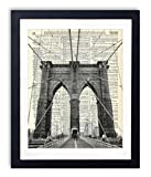 new york brooklyn bridge wall art - Brooklyn Bridge New York City Upcycled Vintage Dictionary Art Print 8x10