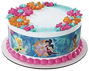 DISNEY FAIRY FRIENDS TINKERBELL PIXIE HOLLOW Edible Icing Image FROSTING SHEET Cake Topper - SIDE STRIPS