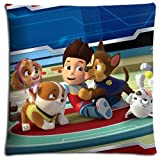 Collection Healthy PAW Patrol Cushion Pillow Cover Case Zippered Polyester + Cotton 16x16 inch 40x40 cm