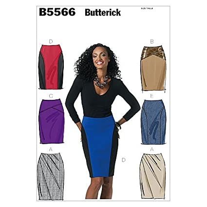 d89bd32f1 Amazon.com: BUTTERICK PATTERNS B5566 Misses' Skirt, Size EE (14-16 ...
