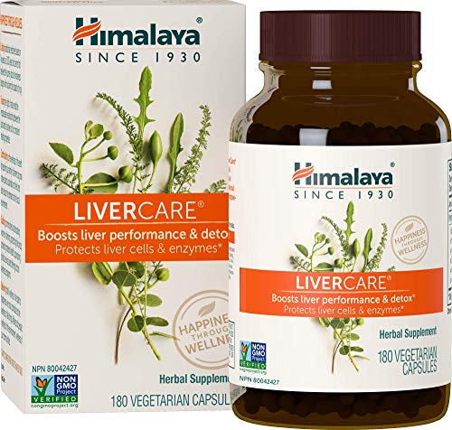 Himalaya LiverCare/Liv. 52 for Liver Cleanse and Liver Detox 375 mg (180 COUNT)
