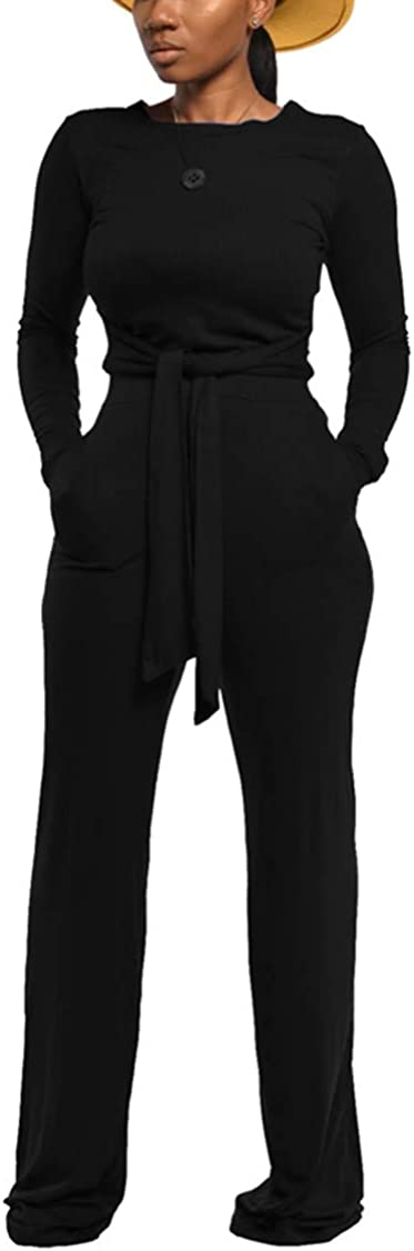Women's 2 Piece Outfits Sexy Ribbed Off Shoulder Crop Tops Bodycon Pants Loungewear Clubwear