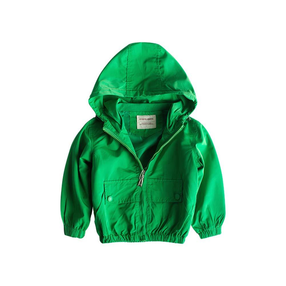 Toddler Boys Casual Zipper Hooded Zip Jacket Long Sleeve Coat Windproof Casual Outerwear