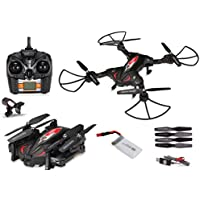 TK-110 EXTREME Drone with 720P HD Wi-Fi Camera Live Video Feed 2.4GHz 6-Axis Gyro RC Quadcopter RTF/BNF for Kids & Beginners - Altitude Hold, One Key Start, Foldable Arms