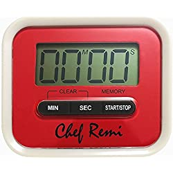 Latest Digital Kitchen Timer - Lifetime Replacement Warranty - Loud Kitchen Timer, Big Digits, Cooking Timer Can Be Used As Clip, Magnet Or Stand, Manual Inc. Never Under / Over Cook Your Eggs Again!