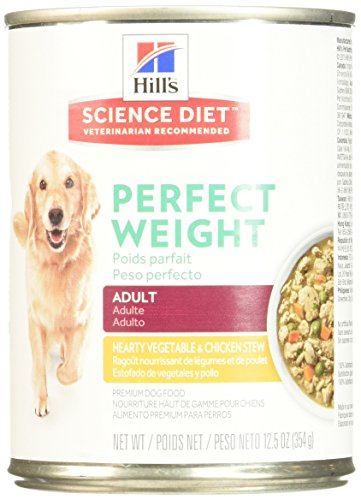 Hill's Science Diet Canine Adult Perfect Weight Hearty Vegetable & Chicken Stew 12.5 oz (354 g) can, Large by Hill's Science Diet