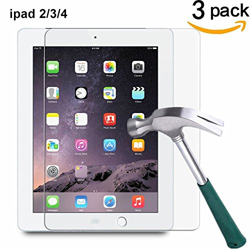 Tempered Glass Screen Protector for Apple iPad 2/3/4 - 2