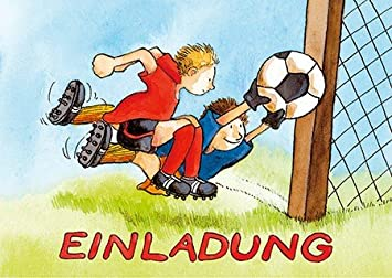10 Einladungskarten Kindergeburtstag U0026quot;Fussballu0026quot;