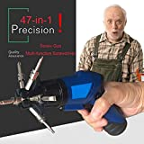 47-in-1 Cordless Electric Screwdriver Kit with Built-in Bits Set, Rechargeable 4.8 Volt Lithium-Ion Battery, with Flexible Extension Shaft