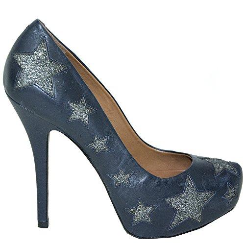 SCHUTZ Zapatos de Vestir de Piel Para Mujer Azul Turquesa