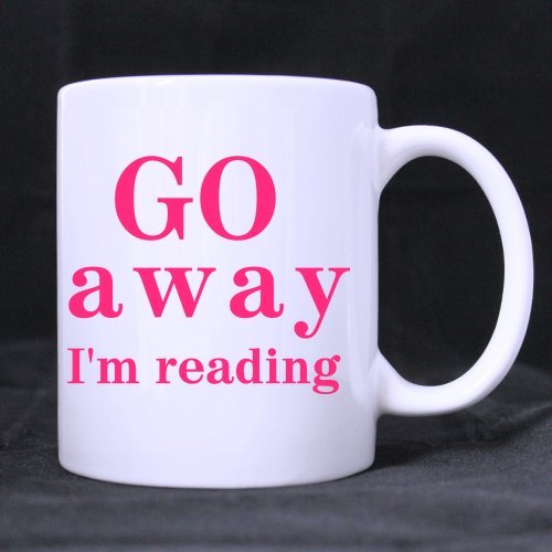 11oz Funny Go Away I'm Reading Best Choice White Ceramic Coffee Mugs Cup